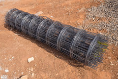 Roll of wire mesh. On construction site Royalty Free Stock Image