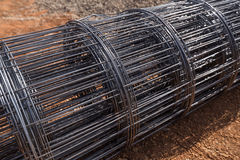 Roll of wire mesh Stock Photos