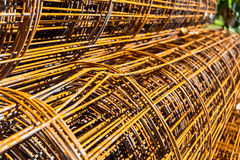 Roll wire mesh steel Stock Images