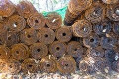 Roll wire mesh steel Stock Photo