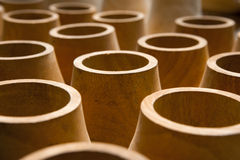 Woods in factory. Roll of woods vase in factory royalty free stock photography