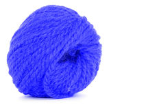 Roll of wool, braided twine  on white background Royalty Free Stock Photos