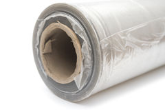 Roll of wrapping plastic stretch film Royalty Free Stock Images