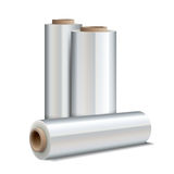 Roll of wrapping plastic stretch film Royalty Free Stock Image