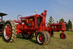 Restored F-20 Farmall tractor. ROLLAG, MINNESOTA, Sept 1, 2017: A restored F-20 Farmall tractor is being displayed at the annual WCSTR farm show in Rollag held Royalty Free Stock Photos