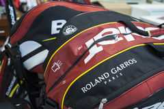 Rolland Garros Bag. At the official store of Rolland Garros grand slam Royalty Free Stock Photo