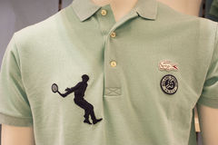 Rolland Garros Shirt. At the official store of Rolland Garros grand slam Royalty Free Stock Photography