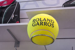Rolland Garros Tennis Ball. At the official store of Rolland Garros grand slam Stock Photography