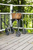 Rollator with basket Stock Photography