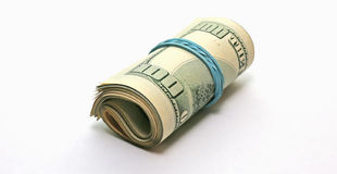 Rollback 100 dollar bills Royalty Free Stock Photos