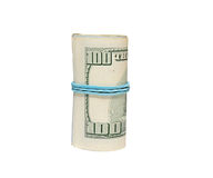 Rollback 100 dollar bills Stock Image