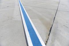 Rollbahn-Markierung Lizenzfreies Stockbild