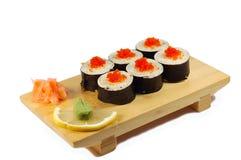 Rolle Aby tempuro maki Stockfotografie