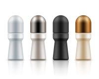 Rolle auf Antitranspirationspaketen der desodorierenden Mittel lizenzfreie abbildung