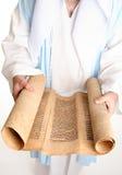 Rolle auf gevil Pergament Stockbilder
