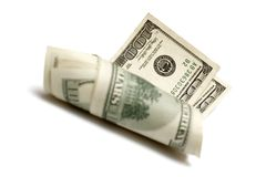 Rolle der Dollar Lizenzfreies Stockbild
