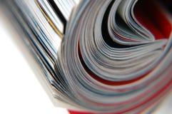 Rolle der Zeitschriften-Nahaufnahme stockfoto