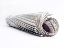 Rolle der Zeitungen lizenzfreies stockbild