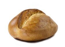 Rolle des frischen Brotes auf weißem Hintergrund lizenzfreie stockbilder