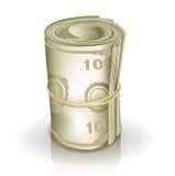Rolle des Geldes lizenzfreie abbildung