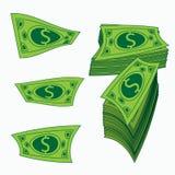 Rolle des Geldes Papierdollar ENV 10 Die Währungsillustration lokalisiert auf Weiß Merken Sie Hintergrund Zu für die Presse verwe Stockbild