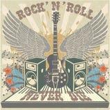 Rolle des Rock-n sterben nie Stockbild