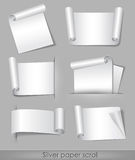 Rolle des silbernen Papiers Stockfotos
