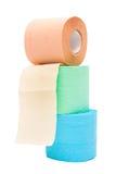 Rolle eines Toilettenpapiers stockbild