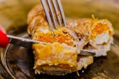 Rolle, kochend, Mittagessen, Prozess, Exklusives, besitzen, Haupt, Küche, Lebensmittel, roh, saftig, geschmackvoll, Karotten, gek lizenzfreies stockfoto