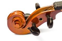 Rolle und pegbox der Violine Stockbilder