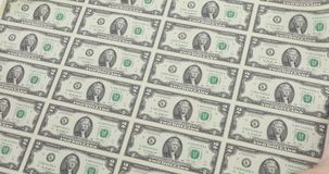 Rolle von 2 Dollar stock video