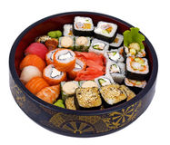 Rolled And Sushi Royalty Free Stock Photos