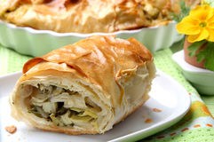 Rolled baked pie Royalty Free Stock Image
