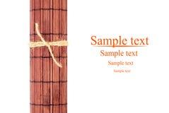 Rolled bamboo mat Stock Photos