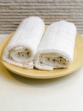 Rolled bath towells Royalty Free Stock Image