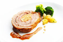Rolled beef with cabbage Stock Photography
