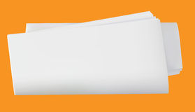 Rolled blank newspaper Royalty Free Stock Photo