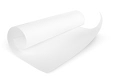 Rolled blank sheet of paper Stock Photos