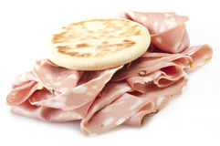 Rolled bologna slices Royalty Free Stock Photography
