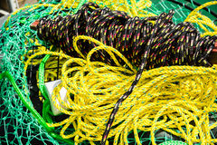 Rolled braided rope Royalty Free Stock Images