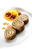 Rolled buckwheat cake  Stock Photography