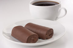 Rolled cake Stock Photo