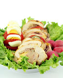 Rolled chicken meat Royalty Free Stock Image