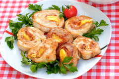 Rolled Chicken - rolled chicken breasts Royalty Free Stock Image