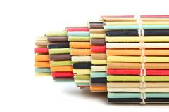 Rolled colorful mat Royalty Free Stock Image