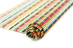 Rolled colorful mat Royalty Free Stock Photos