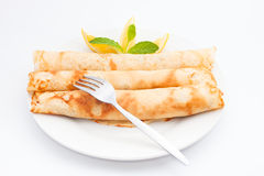 Rolled crepes Stock Image