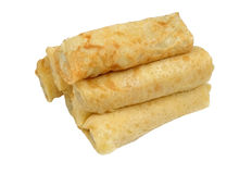 Rolled crepes Royalty Free Stock Image