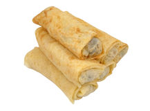 Rolled crepes Stock Images