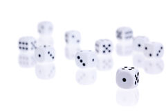 Rolled dice Royalty Free Stock Photography
